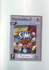 THE SIMS BUSTIN OUT - PLAYSTATION PS2 GAME / 60GB PS3 COMPATIBLE - COMPLETE  VGC