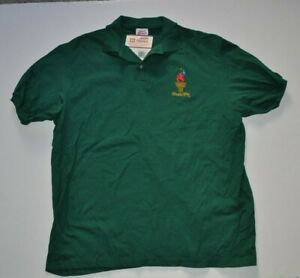 Atlanta 1996 Green Olympics Vintage Hanes Polo Shirt Size XL NWT