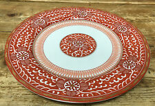 Imperial Brocade Kutani Georges Briard Rust Asian White 1 Dinner Plate 7608 Geo