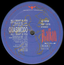 QUASIMODO  - All I Want Is You - 1994 Italian Style Production - ISP 1275