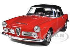 1960 ALFA ROMEO SPIDER 2600 SOFT TOP RED 1/24 DIECAST MODEL WELLY 24003HW