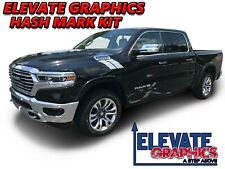 Fits Dodge Ram 1500 Side Hash Mark Stripes Decals Double Bar Graphics For 00 21
