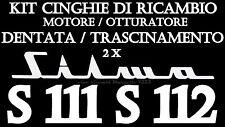 ★KIT CINGHIE DI RICAMBIO 2 x PROIETTORE SILMA S 111 S 112 ( TONDA E DENTATA )★