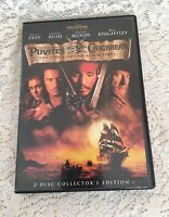 Pirates of the Caribbean: The Curse of the Black Pearl  DVD  2003, 2-Disc Set, S