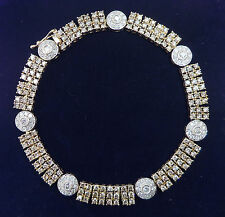 "9ct Gold 4.00ct Diamond Tennis Bracelet, 7"", 12.3g"