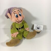 RARE Walt Disney Store Dopey Snow White & The Seven Dwarfs Plush Soft Toy 10""