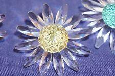 Swarovski Crystal Scs Annual Daisy aka Marguerite Flower Cake Topper Yellow Mib