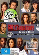 GREY'S ANATOMY SEASON 3 : NEW DVD