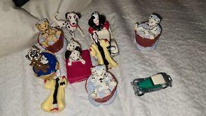 101 Dalmatians Vintage Disney Figure Pvc Toys Cruella de vil puppies 1990s