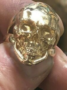 10K Solid Gold Skull Ring Available all sizes 5-14 approximate weight 16 grams