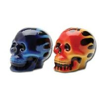 S & P Flame Skulls Salt & Pepper Shakers Wiccan Pagan Kitchen Witch Gift