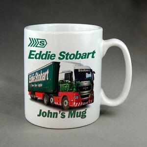 EDDIE STOBART MUG - PERSONALISED - PRINTED WITH YOUR CHOICE OF NAME - NEW