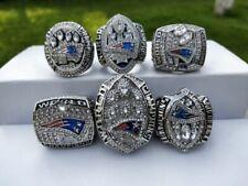 6 Pcs New England Patriots Championship Ring Set Fan Gift !!