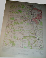 Vintage Lg Wall Map West Utica New York Usgs 1955 Kirkland New Hartford Paris Co