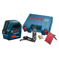 Bosch GLL55 Professional Self-Leveling Cross-Line Laser w/ Batteries New