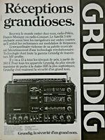 PUBLICITÉ DE PRESSE 1979 POSTE DE RADIO GRUNDIG SATELLIT 3400 PO/GO/OC/MF