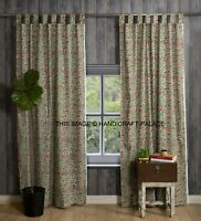 Indian Hand Block Print Floral Cotton Curtain Door Cutains Decor Window Curtains