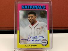 2019 Topps Archives Juan Soto Auto In Card Autograph SSP