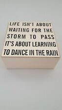 Life Isn't About Waiting For The Storm To Pass it's About...' Storage Box: Gift