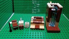 New lego Custom furniture bathroom toilet sink tub shower trash can plunger city