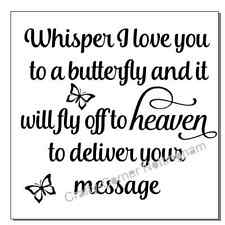 vinyl decal sticker Ikea frame size - Whisper I Love You to a butterfly and it