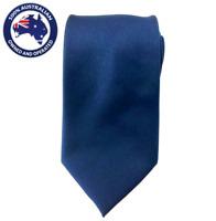Men's Neck Tie Solid Navy Blue 8.5CM Necktie Neckties Groomsmen Wedding Plain