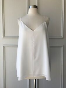 | COUNTRY ROAD | 100% PURE silk cami white | NEW | $139 | SIZE: 6,8,10,12,14
