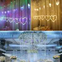 12PCS Heart Window Curtain LED String Lights LED Wedding Party Fairy Lights  !