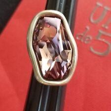 Uno De 50 Silver Ring with Pink Swarovski Stone