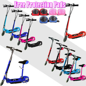 Kids 24V Battery Electric E Scooter Ride On Stand Escooter Free Protection Pads