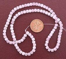 "4mm Drum Rose Quartz Gemstone Beads 15"" Strand"