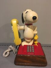 Vintage The Snoopy And Woodstock Touch Tone Phone Working