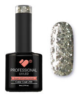 288 VB™ Line Transparent Silver Glitter - UV/LED soak off gel nail polish