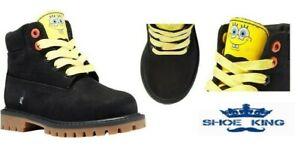 "Timberland Toddler SpongeBob SquarePants X Timberland 6"" Waterproof Boots A257E"