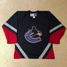Vintage Vancouver Canucks Orca Hockey Jersey NHL Medium Navy CCM Stitched