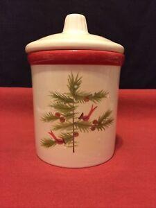Hallmark Cinnamon Candle In Winter Christmas Cardinal Birds Ceramic Lid Jar