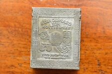 Graphic Art Exposition 1927 NY Engraved Metal Printing Machine Press Plate Stamp