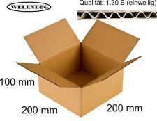 300 Faltkartons 200x200x100mm B-400g/m2  Versandkarton Falt Kartons [ braun ]
