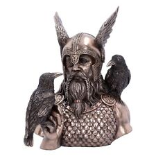 Odin god of war,death,sky and the god of wisdom and poetry.Cold cast bronze .