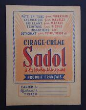Protège cahier Cirage crème SADOL Térébenthine copybook cover Wachbuch