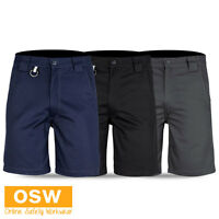 MENS TRADIES BUILDER COTTON TWILL WORK UTILITY SHORTS - BLACK/CHARCOAL/NAVY