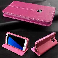 Ultra Slim Leather Flip Wallet Card Holder Case Cover For iPhone / Samsung Model