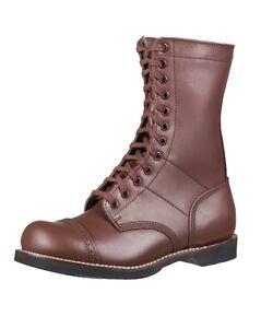 Mil-Tec US Para Boots Braun Kampfstiefel Lederstiefel Springerstiefel 38-46