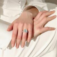 Wunderschöne Blumen Ring für Frauen Mode Hochzeit Schmuck Geschenk Ring