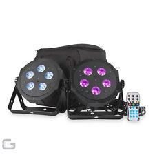 ADJ VPAR PAK 2x del RGBA groupe DJ DMX par boite lumière Kit avec mallette &