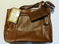 Faux Leather Gold Mine Briefcase Tote Purse By Bueno With Tags