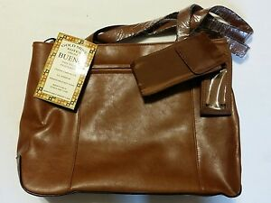 NEW NWT Faux Leather Gold Mine Briefcase Tote Purse By Bueno Brand New With Tags