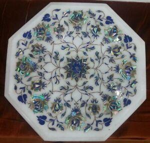 """12"""" Marble Coffee Table Semi Precious Stone Pietra Dura Handmade"""
