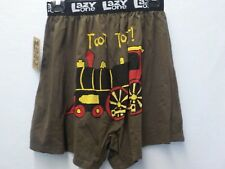 LAZY ONE MENS SIZE SMALL 28-30 BROWN TRAIN TOOT TOOT BOXERS NEW #7764