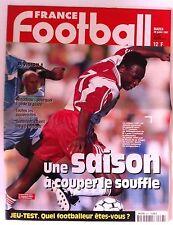 France Football du 29/07/1997; Japhet N'Doram, AS Monaco/ Suaudeau/ Saison
